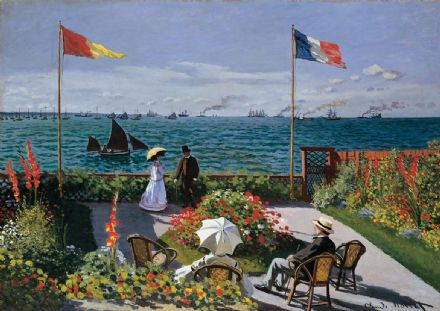Monet, Claude: The Terrace at Sainte-Adresse. Fine Art Print/Poster. Sizes: A4/A3/A2/A1 (003222)